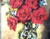 ACEO Rose Flower Still Life in Pastel Limited Edition Print