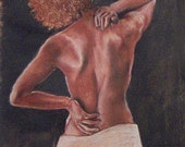 ACEO print of African-American Female by artist Page Kiser