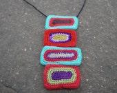 Olga Stacked Crochet Oblong Beads Necklace