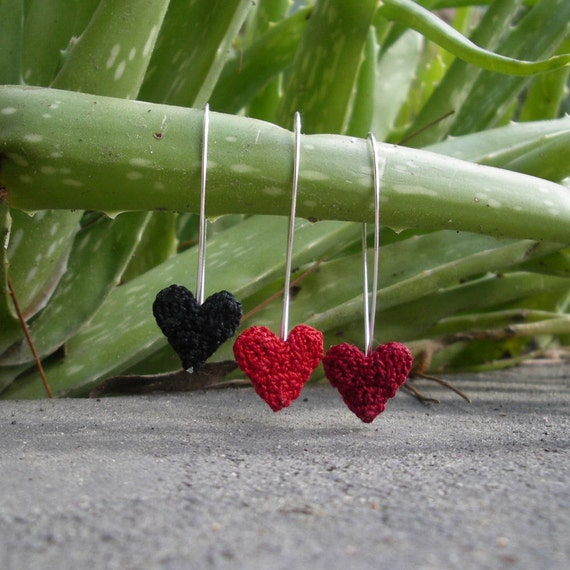 Holi Crochet Heart Earrings