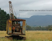 The Old Rusty Crane In Colour, Hartley, New South Wales, Australia, Bygone Days, 9x6 inch photograph