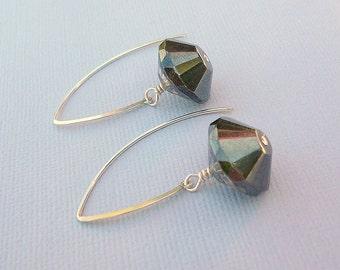 Shimmering Silver Dangling Earrings