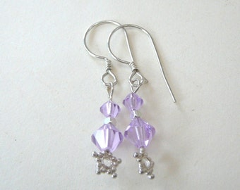 Lilac Star Earrings