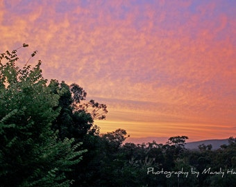 Sunrise Looking Over The Blue Mountains, Grose Wold, New South Wales, Australia, 9x6 Photograph