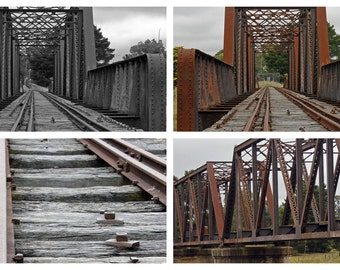 The Old Railway Line, 9x6 Photographs, Set Of 4 Photographs, Historical Goulburn