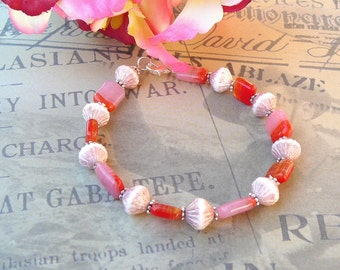 Subtle Red And Pink Bracelet