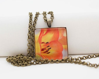 Flowers In Bloom, Vintage Bronze, Photography, Photo Jewelry, Nature Photography