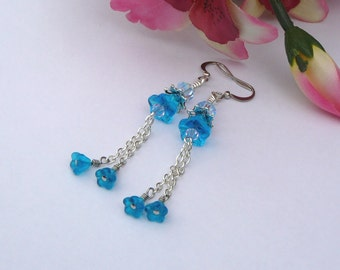 Blue Lagoon Dangley Earrings