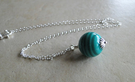 Imitation Jade Sterling Silver Necklace