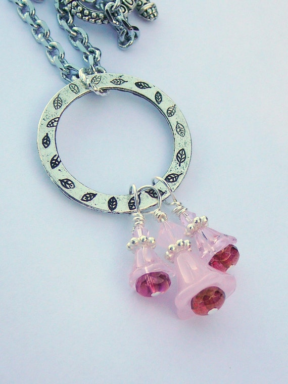 Flower Necklace, Say It With Flowers Necklace