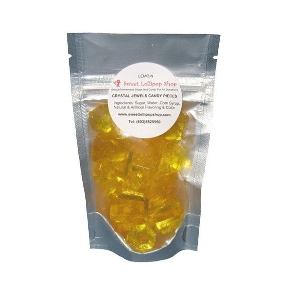 Crystal Jewels Barley Candy Sweets - DELICIOUS LEMON FLAVOR - 2oz Bags