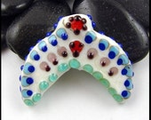 Beadworx - Lampwork Glass Focal Bead - Whale Tail - Moon Brother