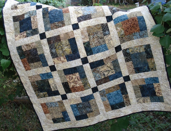 Blueberry Coffee Cake Batik Quilt