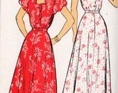 New York  Dress Pattern 1940s Unused Rockablilly Retro Scalloped Neckline
