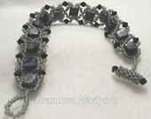Snowflake Obsidian Bracelet OOAK   GMB0034