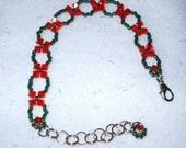 Green and Red Holiday Bracelet     GMB0030