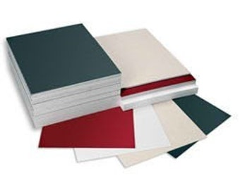 10 flat 5x7 assorted colored matboard for artwork or to custom cut your mats