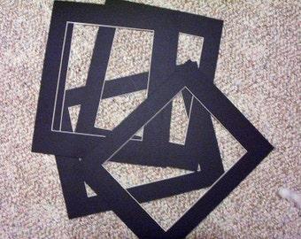 10 8x10 black mats for 5x7 photos or artwork