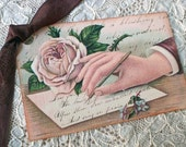 Victorian Tags - The Handwritten Note Tags, Lady's Hand - Set of 3