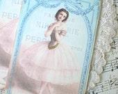 Ballerina Tags - French Ballerina Tags - Pink Ballerina - Set of 4