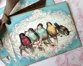 Bird Tags - French Bird Tags - Vintage Bird Tags - Songbirds of Provence - Set of 6