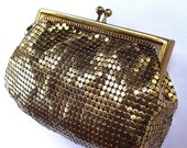 Vintage Whiting and Davis Gold Mesh Coin Purse