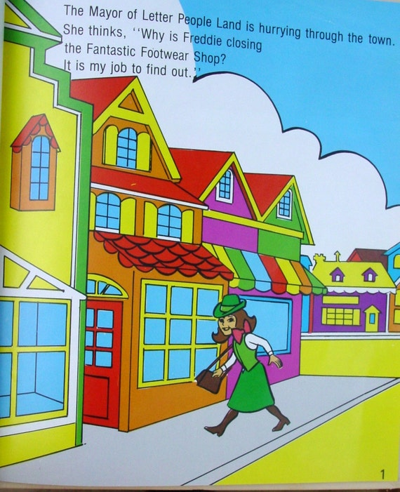 Fantastic Funny Feet , 1978 Colorful Children's Book,  Elayne Reiss, Rita Friedman