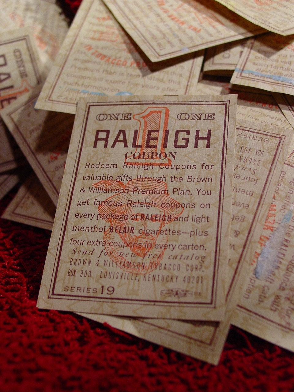 printable cigarette coupons 118 vintage raleigh cigarette coupons for by goodlookinvintage 24062 | il fullxfull.20649201