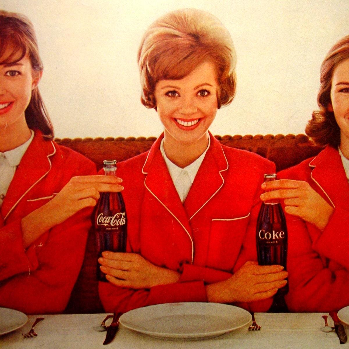 Vintage Coca Cola Ad 1963 Three Girls In By Goodlookinvintage