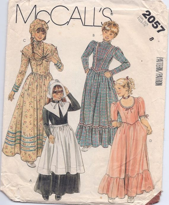 Girl's Prairie or Colonial Dress - Size 8