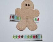 Gingerbread Man Christmas Holiday No Slip Hair Clips Buy 3 Items Get 1