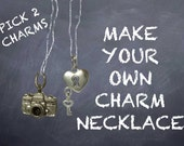 Make your own Charm Necklace...Choose any TWO Pewter Charms