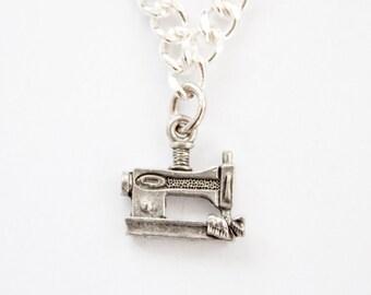 Sewing Machine Charm Bracelet