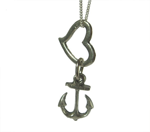 Anchored Love Valentines Day Charm Necklace