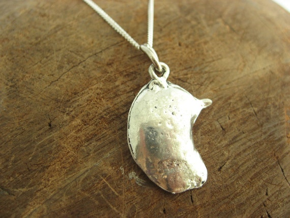 Liver Charm Necklace with Sterling Silver Chain