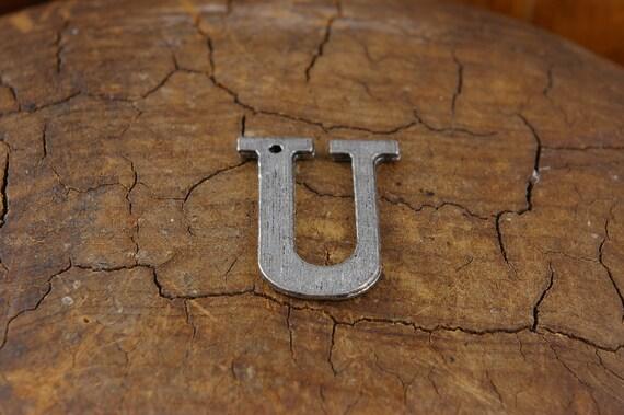 Large Letter U Alphabet Charm