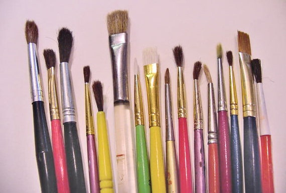 small paintbrush lot no.1 watercolor brushes used various sizes