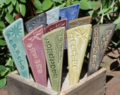 Veggie Garden Stakes / Plant Markers - A Set of 3