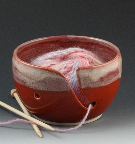 Yarn Bowl in Pumpkin & Cream