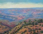Original painting, art on canvas, grand canyon, Arizona, Southwestern landscape, 16 X 20, by Foust