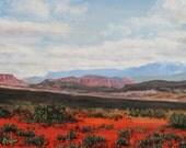 Southwestern art, desert art, Red Desert Print