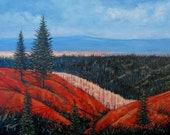 Western Landscape 18 X 24 original painting. Free Shipping.