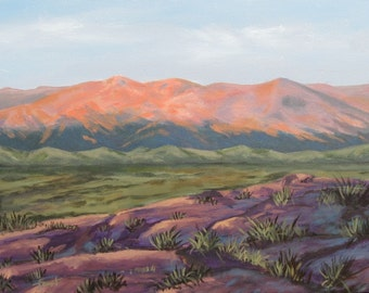 western landscape, painting on canvas,  18 X 24, FREE SHIPPING.