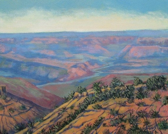 Original painting, art on canvas, grand canyon, Arizona, Southwestern landscape, 16 X 20, by Foust
