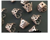6mm copper bead caps
