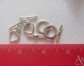 Heart and circle toggle clasps