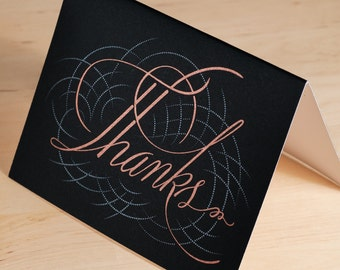 Thank You cards -- Hand-printed calligraphic greeting cards
