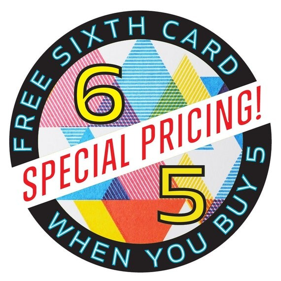Six Greeting Cards for the Price of 5
