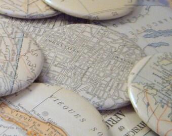 Buy 10 Get 2 Free Vintage Map Magnets--Studio Destash