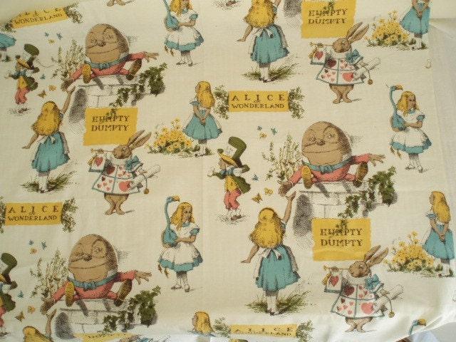 Vintage Alice In Wonderland Fabric 96